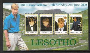 LESOTHO SG1719a 2000 PRINCE WILLIAMS 18th BIRTHDAY  MNH