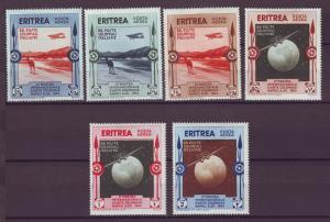 J21245 Jlstamps 1934 eritrea set mhr #c1-6 airplanes