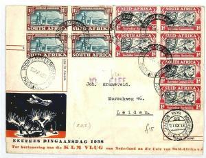 SOUTH AFRICA Pretoria NETHERLANDS Leiden Commemorative Cover Voortrekkers CW228