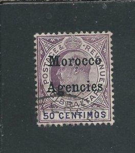 MOROCCO AGENCIES 1905-06 50c PURPLE & VIOLET FU SG 28 CAT £65