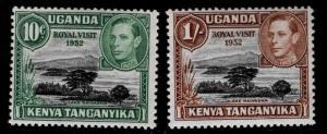 Kenya Uganda and Tanganyika KUT Scott 98-99 MNH** 1952 Royal Visit set