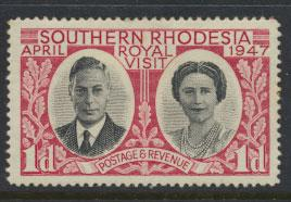Southern Rhodesia SG 63 Mint  heavy Hinged