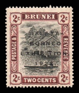 Brunei 1922 MALAYA BORNEO EX. 2c black & brown SG 52 mint