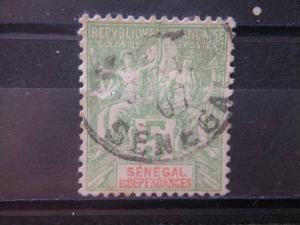 SENEGAL, 1900 used 5c, Scott 39