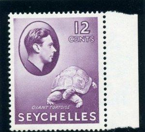 Seychelles 1938 KGVI 12c reddish violet (CH) superb MNH. SG 139. Sc 132