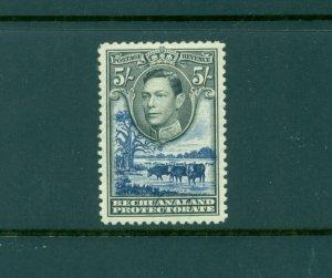 Bechuanaland - Sc# 135. 1938 George VI 5Sh. Mint VLH. $27.50.