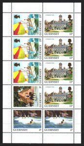Guernsey. 1985. Small sheet 268A-332A. Tourism, sailboat, horse. MNH.