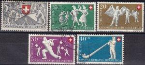 Switzerland #B201-5  F-VF Used CV $20.45  (Z6184)