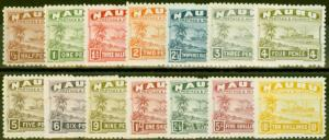 Nauru 1924 set of 14 SG26A-39A Fine Lightly Mtd Mint