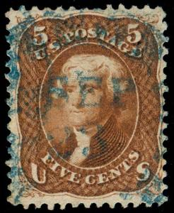 MOMEN: US STAMPS #75 RED BROWN SOUND USED