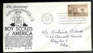 UNITED STATES FDC 3¢ Boy Scouts 1950 Anderson Cachet