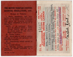 (I.B) Cinderella : Driving Licence 5/- (Staffordshire 1946)