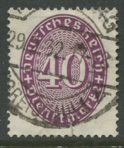 STAMP STATION PERTH Germany #O78 Official Issue Used 1927