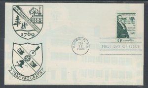 US Planty 1380-17 FDC. 1969 6c Dartmouth College Case, FIRST CACHET by Imperial