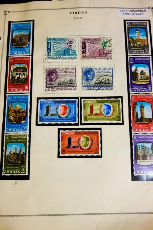 Jordan Stamp Collection Mostly Mint on Scott pages Valuable