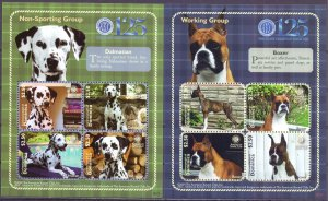 Dominica. 2010. 2Small sheet 4043-50. Dogs. MNH.