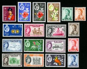 Fiji Stamps # 163-75 VF OG LH Catalog Value $46.00