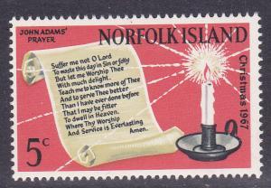 Norfolk Isl. # 115, John Adam's Prayer, Mint NH,