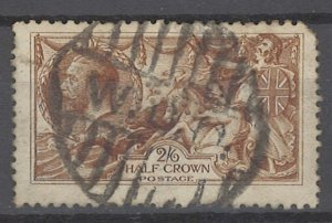 COLLECTION LOT OF # 1958 GREAT BRITAIN #173 1913 CV=$180 22mm LINED PERFIN
