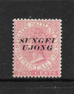 SUNGEI UJONG  1885-90   2c   QV     MH   SG 38