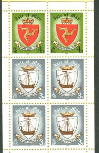Great Britain-Isle Man # 146a 40p Complete Bklt  Mint NH