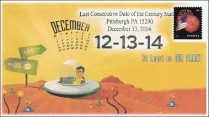 2014, Last Consecutive Date of the Century, Pittsburgh PA, Pictorial Postmark