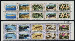 Norfolk Island 288-9 Top Bock MNH Philip Island, Flowers, Birds, Lizards