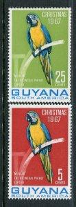Guyana MNH 34-5 Christmas Birds 1967