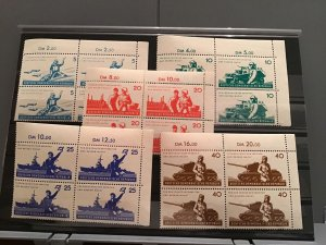 East Germans People's Army 1962 mint never hinged stamps blocks R23784