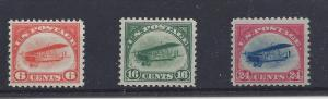 United States,C1-C3,First Issue 1918 Airmail VF Sgls,**MNH**