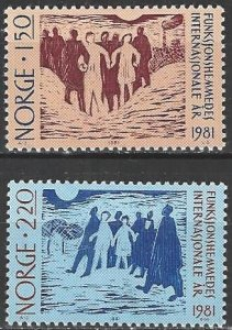 Norway  790-1  MNH  Year of Disabled Person
