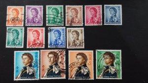 Hong Kong 1962 Queen Elizabeth II - Watermark Upright Used