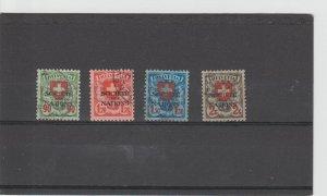 Switzerland  Scott#  2O31-2O34  Used  (1935 League of Nations)