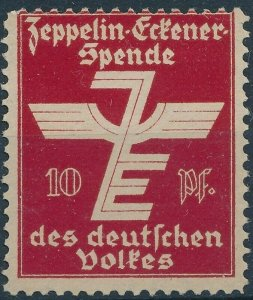 Stamp Label Germany 1933 Graf Zeppelin Airship Poster Cinderella Red MNG
