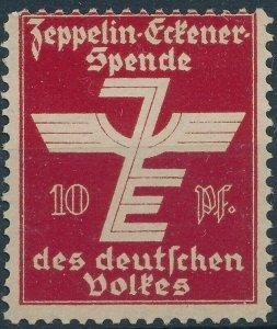 SALE Stamp Label Germany 1933 Graf Zeppelin Airship Poster Cinderella Red MNH