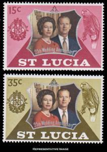 Saint Lucia Scott 328-329 Mint never hinged.