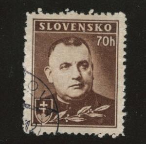 Slovakia Slovenska Scott 43A Used German Protectorate