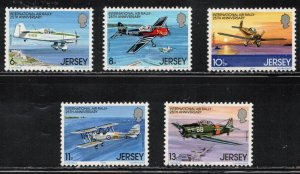 Jersey MNH 208-12 Rally Airplanes 1979