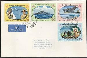 NEW HEBRIDES 1967 Pacific War Anniv set on cover TANNA cds.................54101