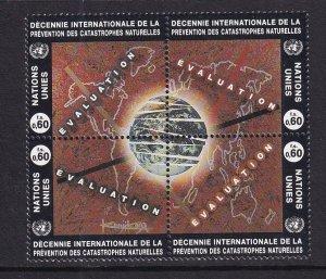 United Nations Geneva  #251-254a  MNH 1994   natural disaster reduction  block