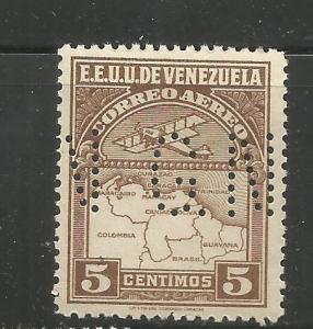 VENEZUELA, C1GN, MNH, PERFORATED GN, AIRPLANE AND MAP