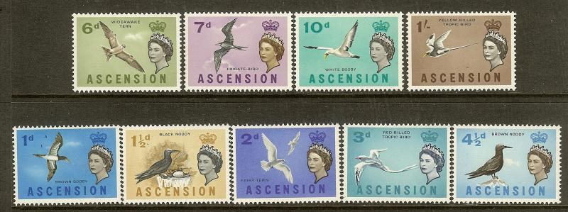 Ascension, Scott #'s 75-83, Queen Elizabeth Issues, MNH