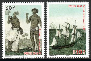 French Polynesia 917-918, MNH.Marquesas Islands.Native man & woman, Ships,2006