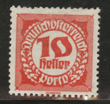Austria Scott J76 MH* from 1920-21 postage due set