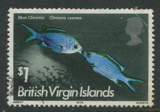 Virgin Is.- Scott 297 - QEII Definitives - Fish -1975 - FU - Single $1.00c Stamp