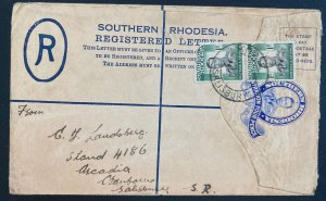 1950s Salisbury Southern Rhodesia Postal Stationery Cover Locally Used