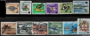 19473  Jamaica 279 - 290 used 2017 SCV $16.00 missing #291