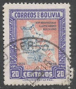 BOLIVIA C105 VFU MAP 991G-4