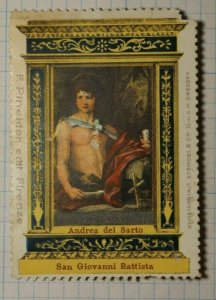 Giovanni Battista Artist Painting Andren Del Santo WW Tourism Poster Stamp