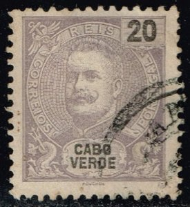Cape Verde #41 King Carlos I; Used (1.00)